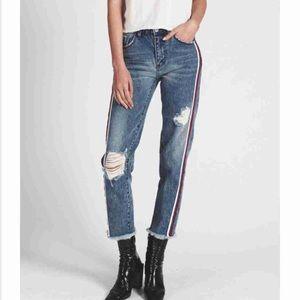 Oneteaspoon High Waist Straight Leg Jean